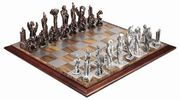 Lord of the Rings-WAR OF THE RINGS PEWTER CHESS SET. - Select to View Larger Image