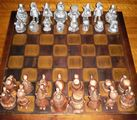 Wizard of Id chess set owned by E. Dylewski - Select to View Larger Image