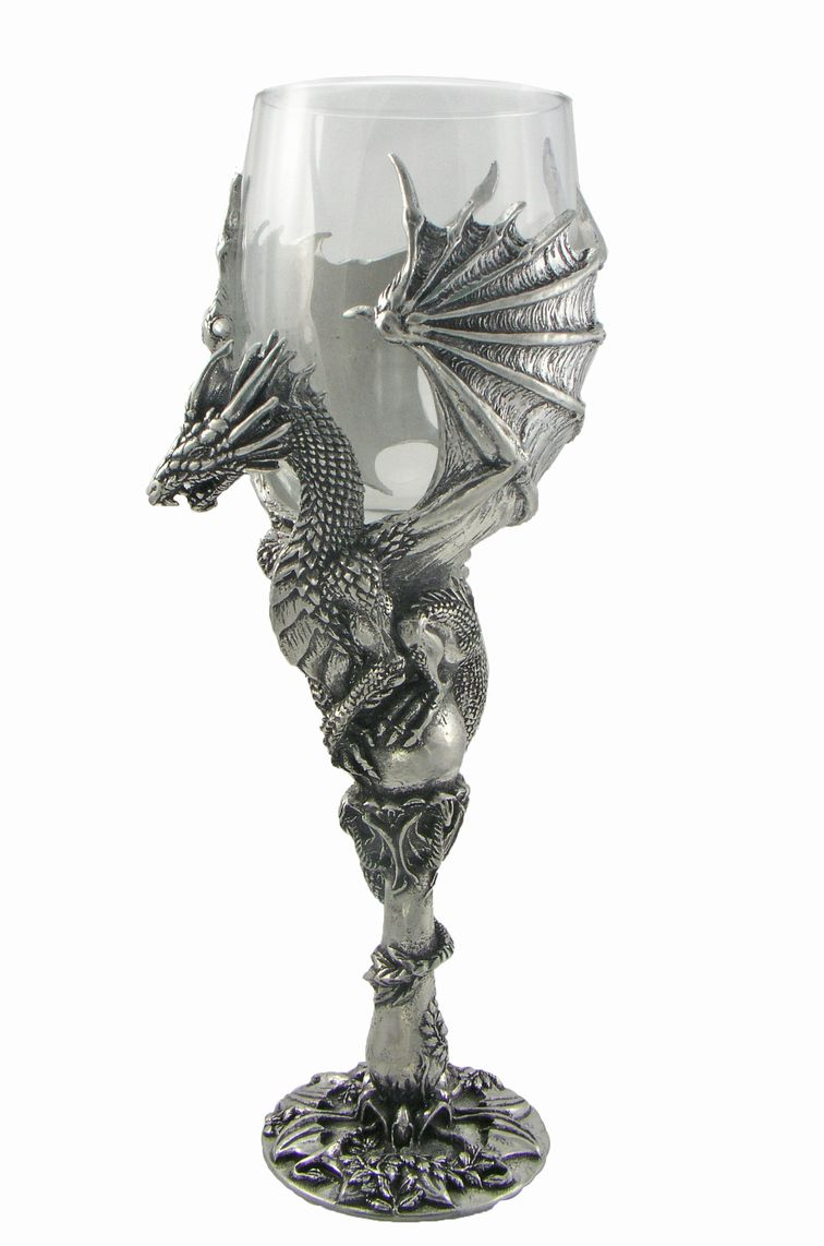 Graeme anthony pewter products other goblets - Pewter dragon goblet ...