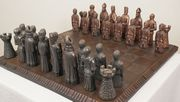 Medieval chess set (,large).Resin and metal powder - Select to View Larger Image