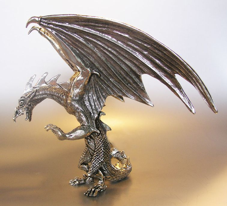 Graeme anthony pewter products dragons - Pewter dragon statues ...